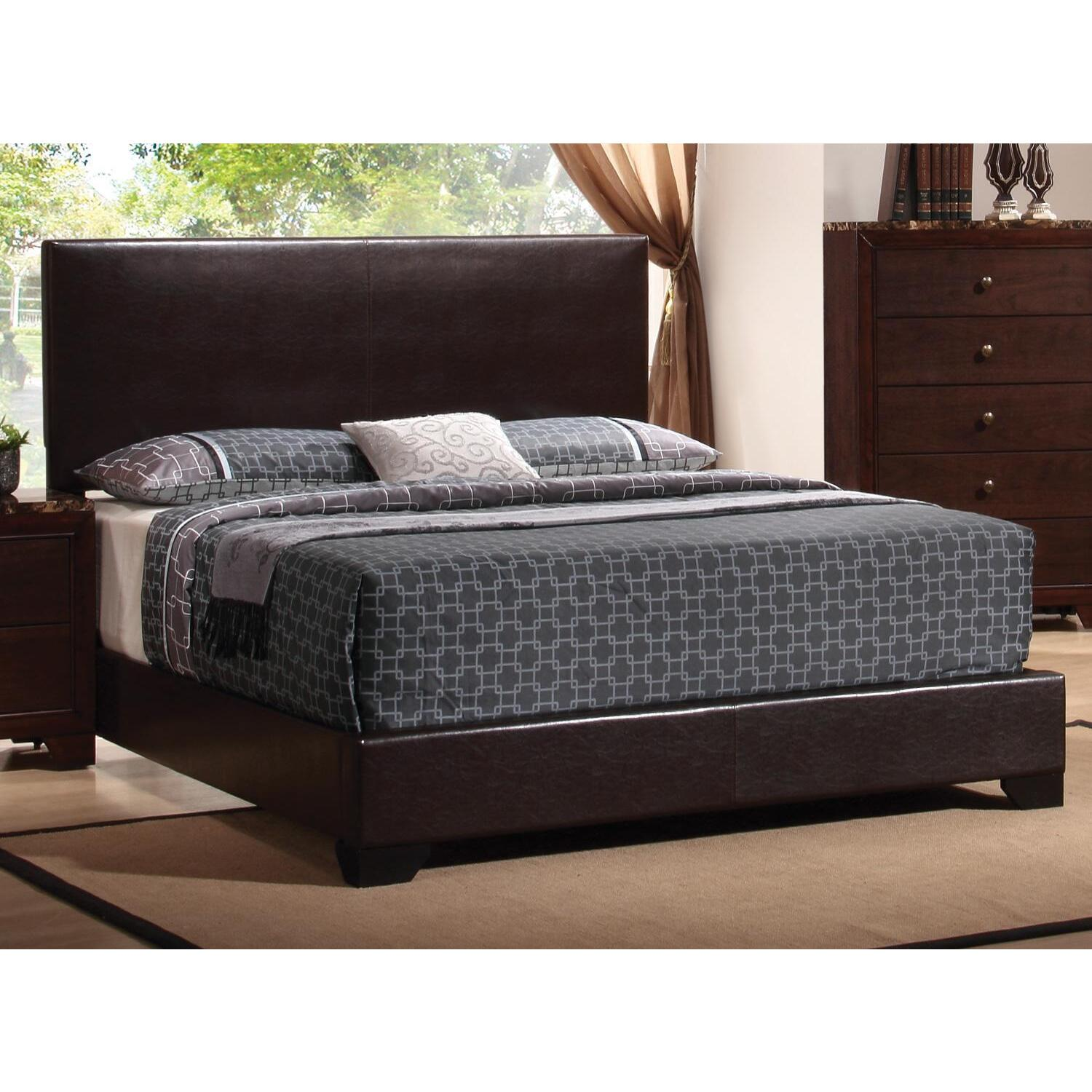 Conner Upholstered Low Profile Bed Ojcommerce