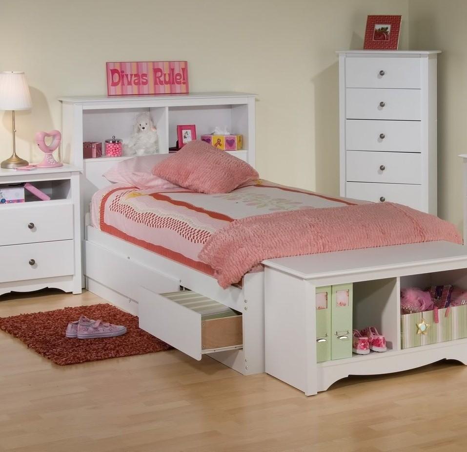 Platform Storage Bed W Bookcase Headboard From 37649 To 89000