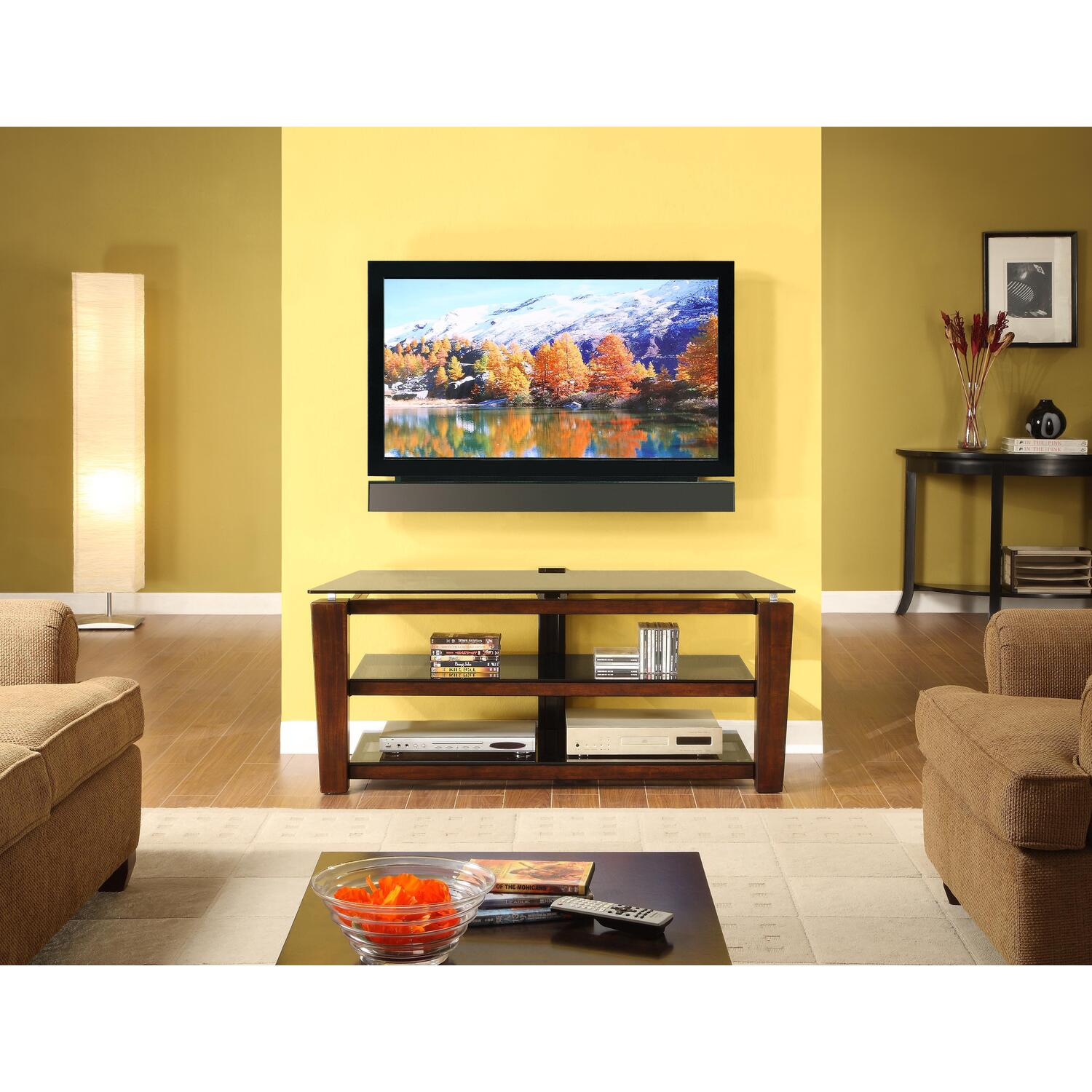 52 3 In 1 Flat Panel Tv Stand With Fixed Arms 395 99 Ojcommerce