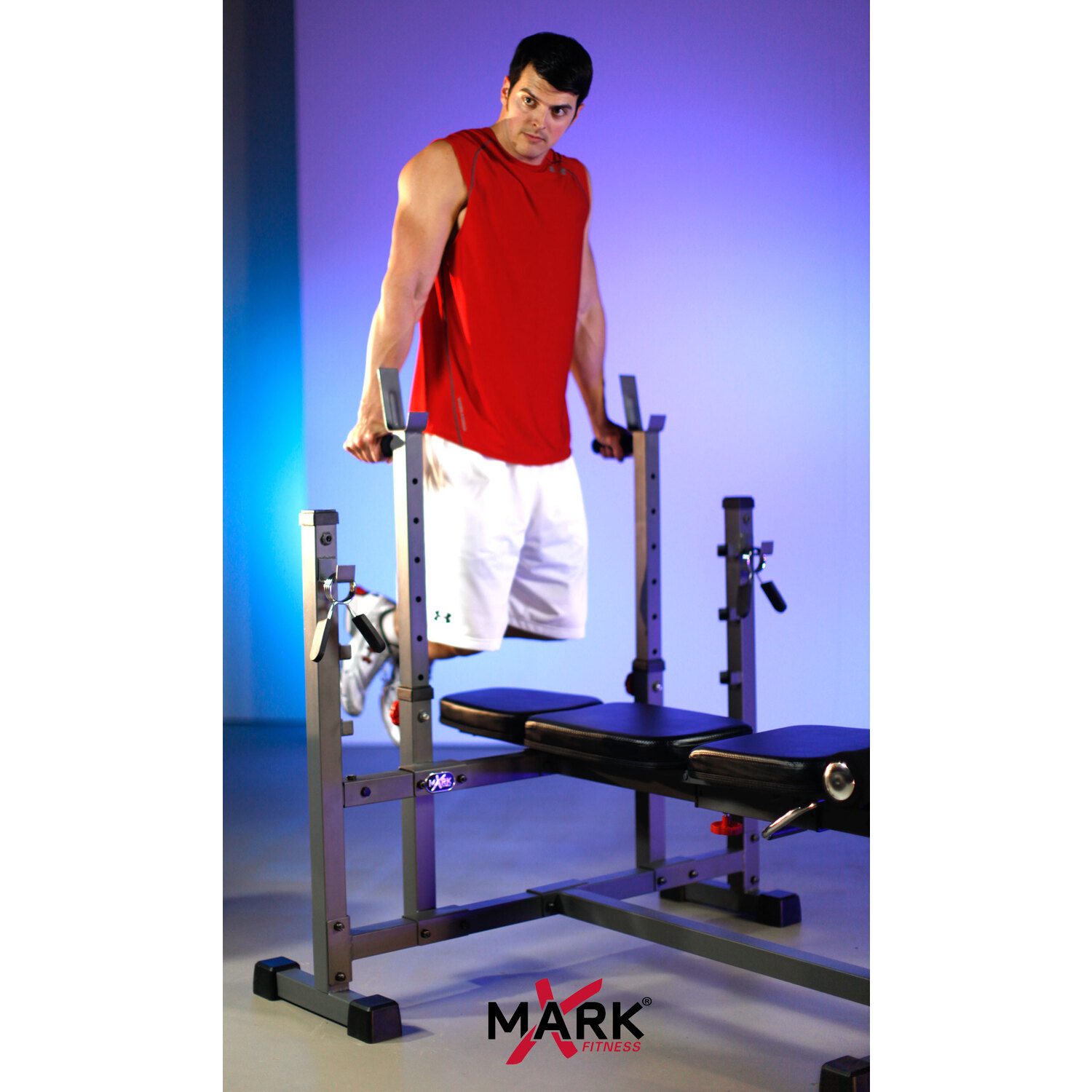 Xmark Olympic Weight Bench With Leg Curl Attachment Xm