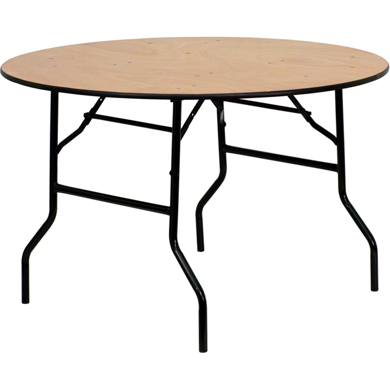 Flash Furniture Yt Wrft48 Tbl Gg Round Wood Folding