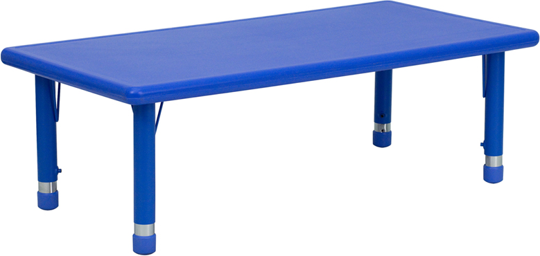 Rectangular Height Adjustable Activity Table - [YU-YCX-001-2-RECT-TBL-GREEN-GG]