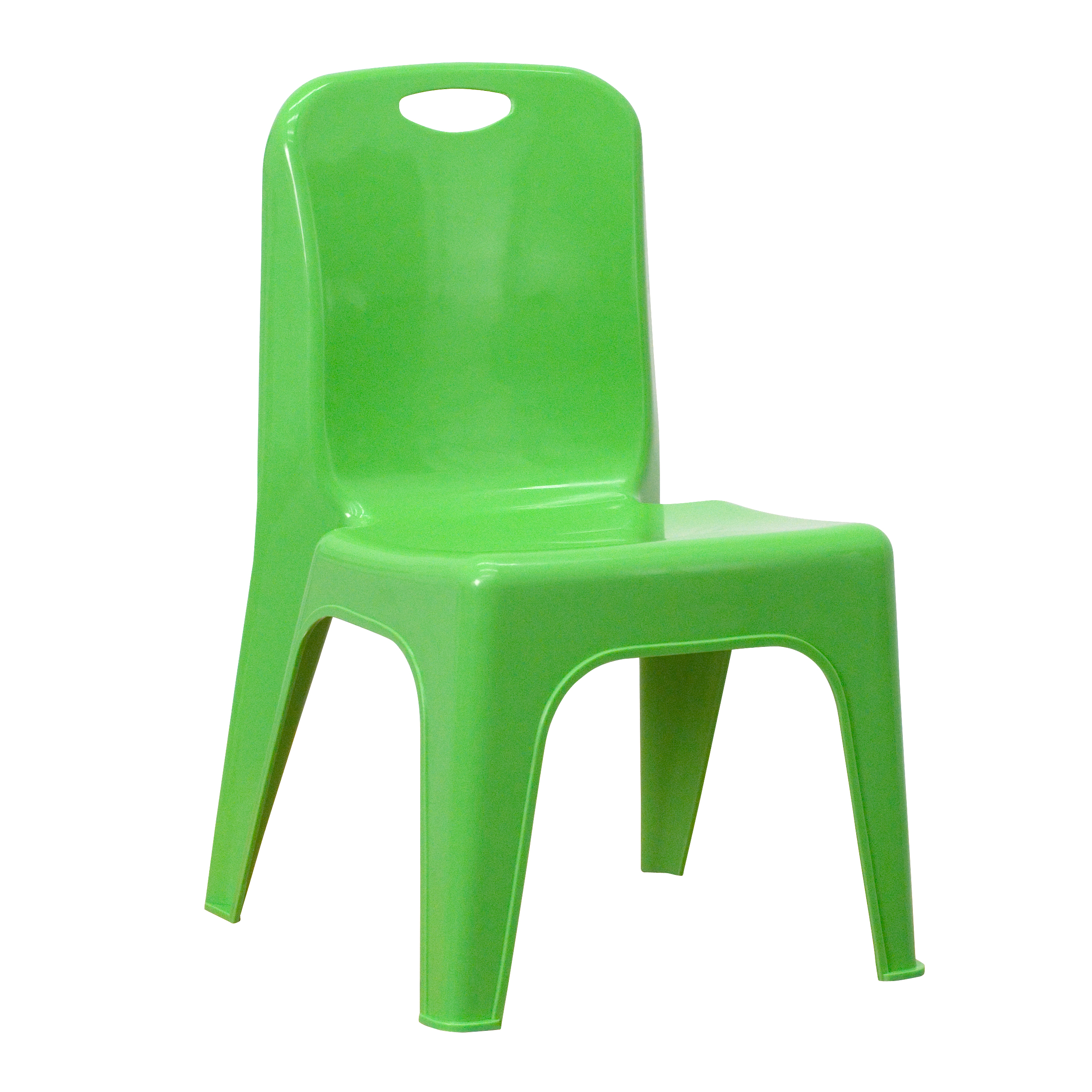 Flash Furniture YU YCX 011 GREEN GG Plastic Stackable