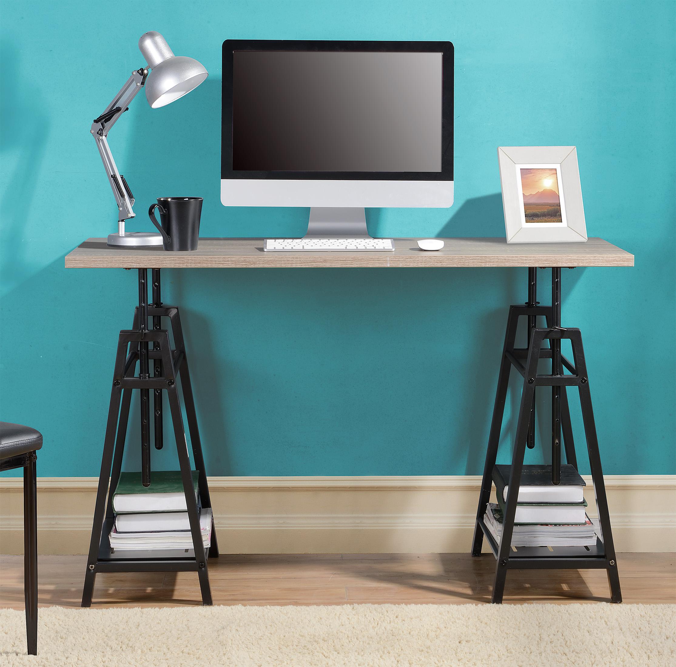 Homestar Height Adjustable Desk in Reclaimed Wood - [Z1430261]
