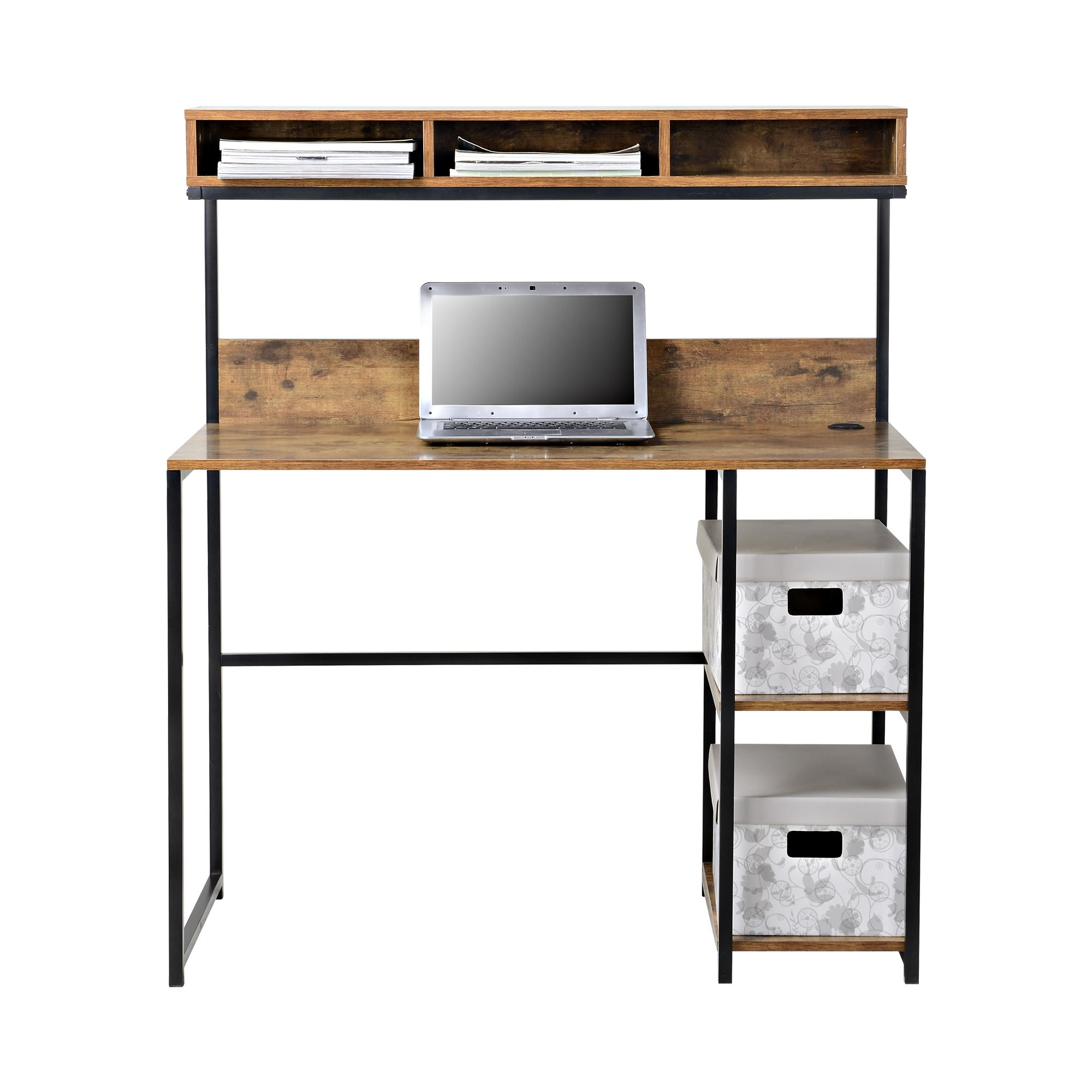 Roll Over Image to Zoom. Homestar Homestar Laptop Desk with Hutch by OJ Commerce Z1510259