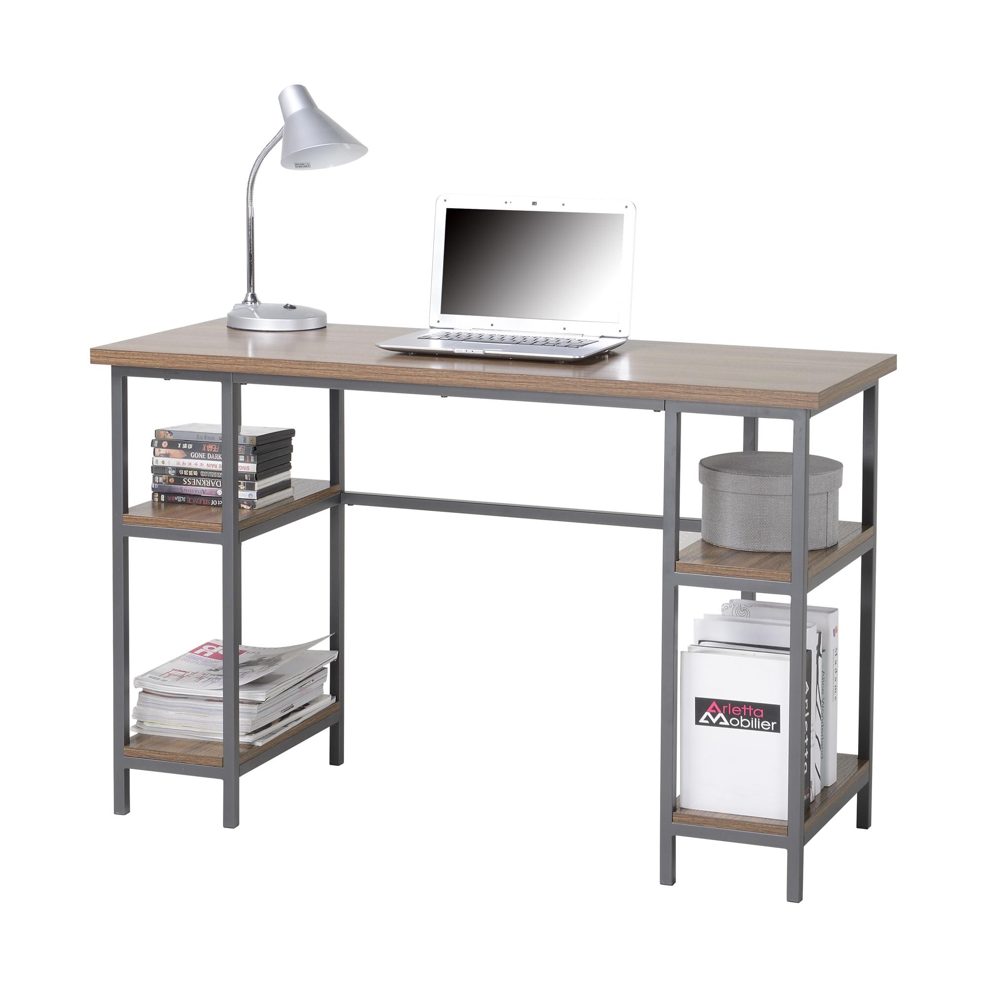 Homestar Laptop Desk with 4-Shelves - [Z1510342]