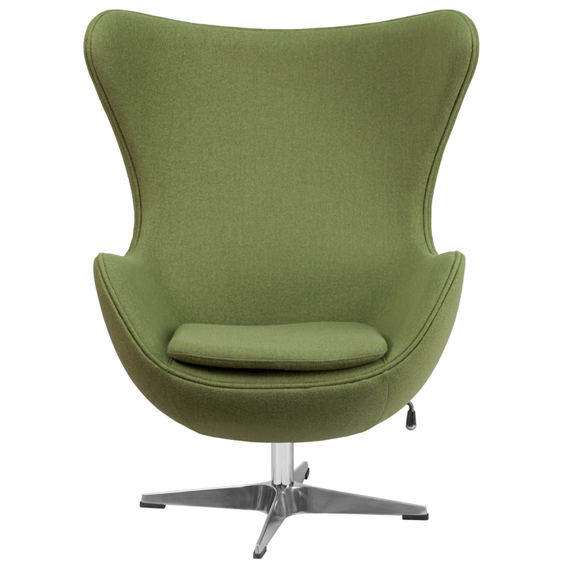 Flash Furniture Gr Wool Egg Chair With Tilt Lock Mechanism 387 64 Ojcommerce