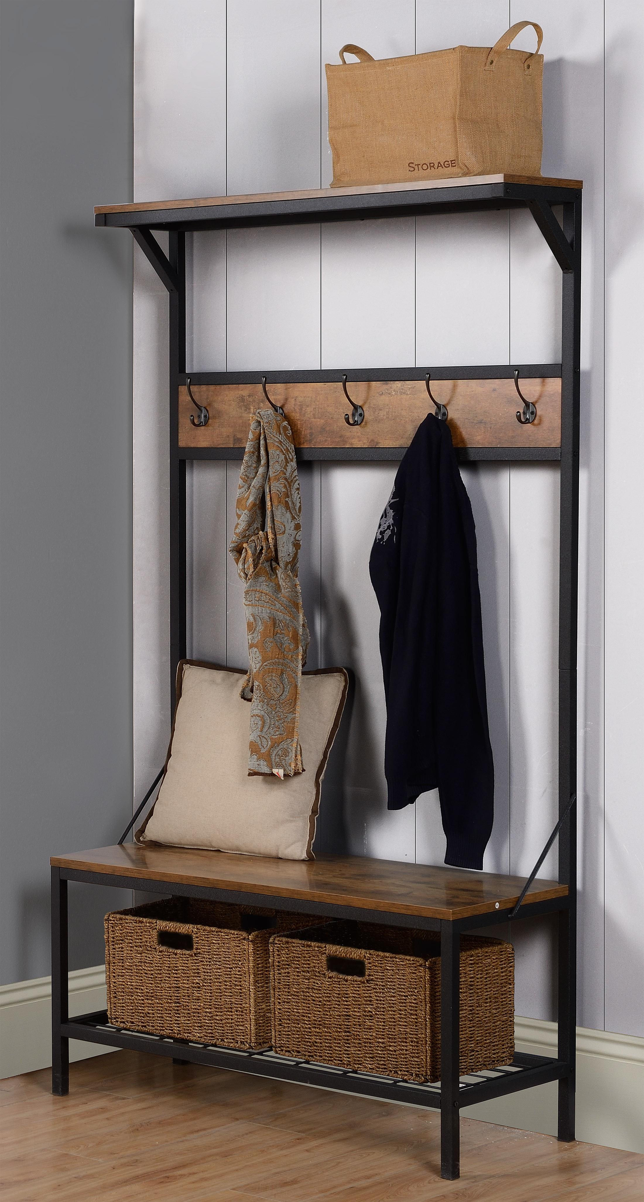 Homestar 3-Shelf 39 in. Wide Hall Tree Bench - [ZH141228]