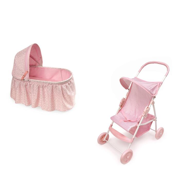 Doll Cradle & Stroller Set