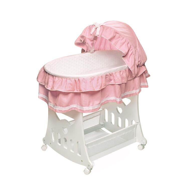 Portable Bassinet 'N Cradle with Toybox Base