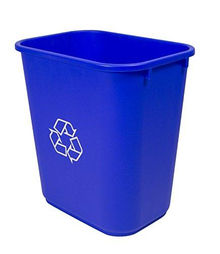 Storex Medium Recycling Basket, Blue, 6-Pack