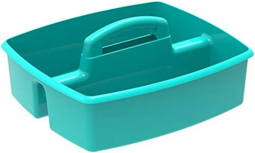 Storex Large Caddy, Teal, 6-Pack