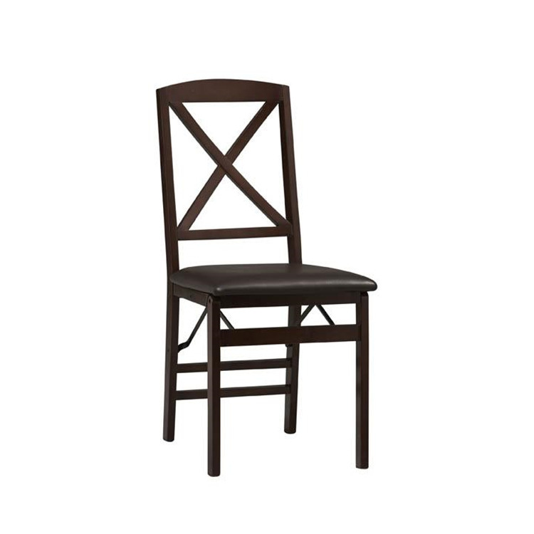 Set of 2 Triena X Back Folding Chairs