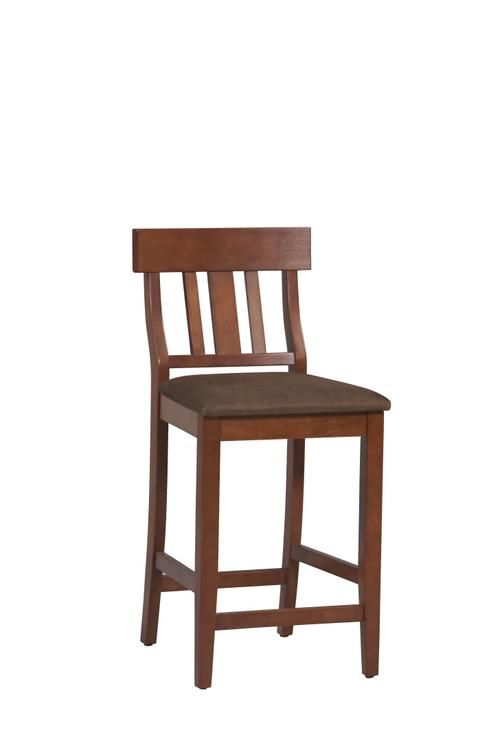 Linon Torino Collection Slat Back Bar Stool