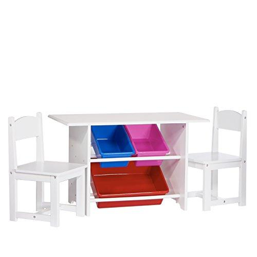 Activity Table for Kids with Chairs and Bins