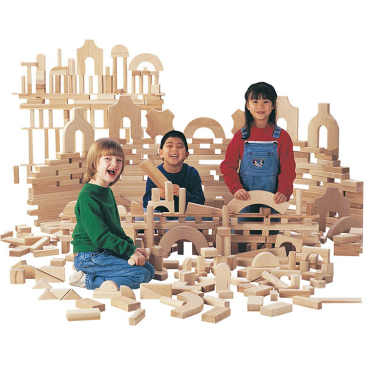 Jonti-Craft Unit Blocks - Small Classroom Set Of 340 Pieces, 29 Shapes
