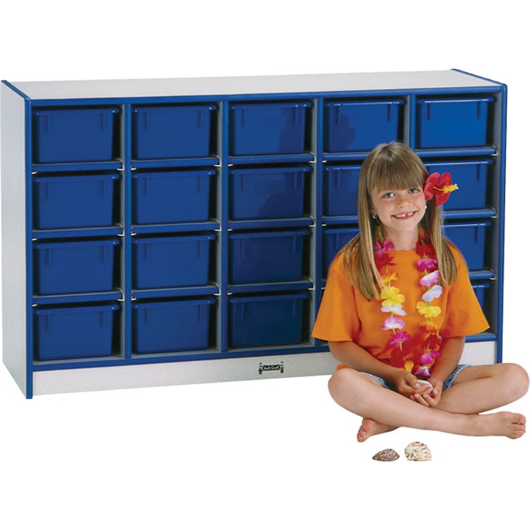 Rainbow Accents 20 Tray Mobile Cubbie With Trays