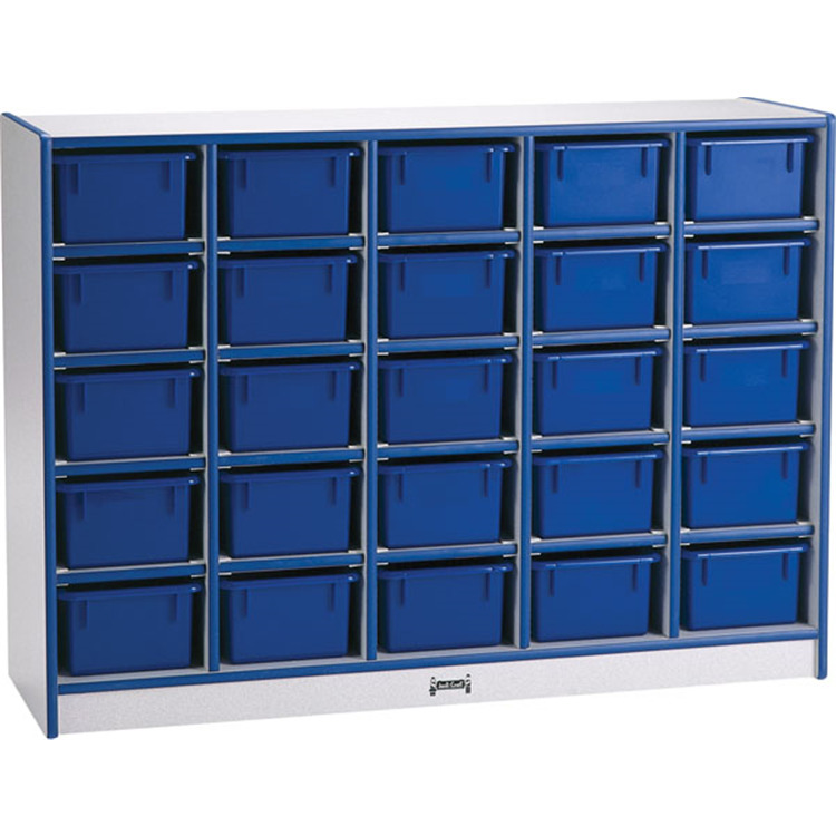 25 Tray Mobile Cubbie Without Trays