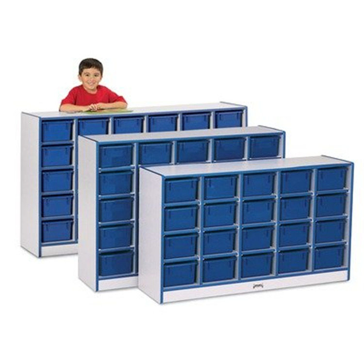 Rainbow Accents 25 Tray Mobile Cubbie Without Trays