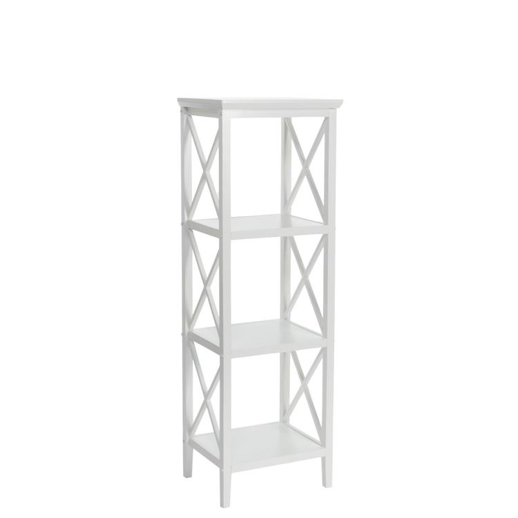 X- Frame Collection - 4-Shelf Storage Tower