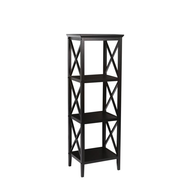 RiverRidge Home X- Frame 4-Shelf Storage Tower