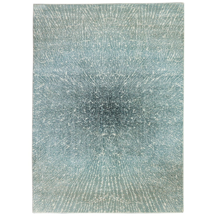 Inspire Me Home Décor Elegance Blue, Grey and White 4'x6' Contemporary Area Rug