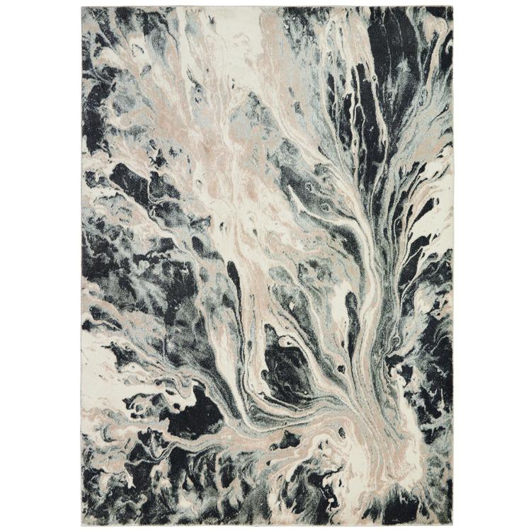 Inspire Me Home Décor Elegance Grey and White 5'x7' Contemporary Area Rug