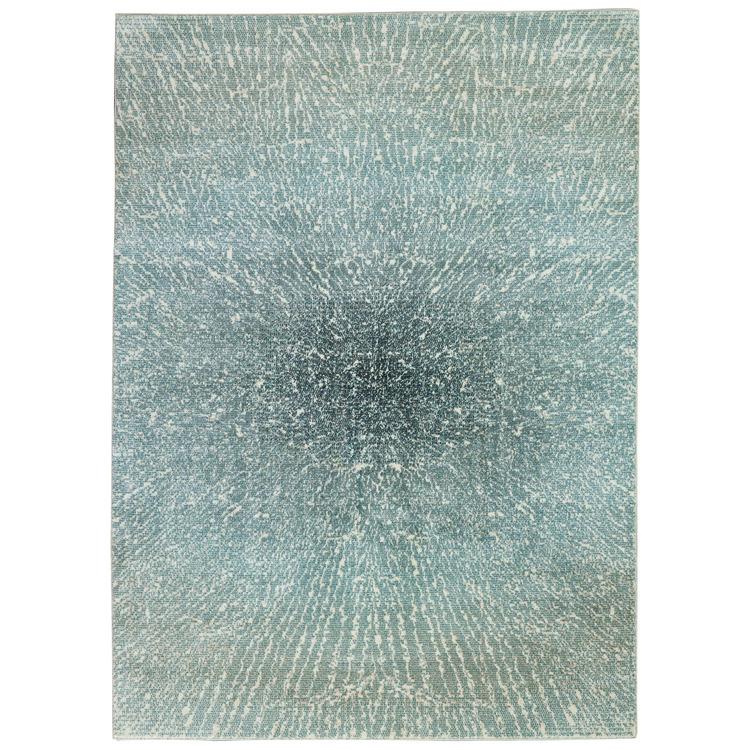 Inspire Me Home Décor Elegance Blue, Grey and White 5'x7' Contemporary Area Rug