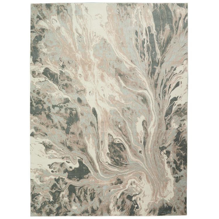 Inspire Me Home Décor Elegance Grey and White 8'x11' Large Rug
