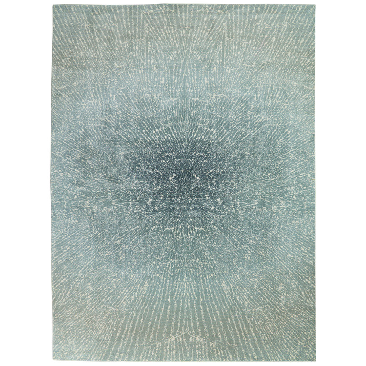 Inspire Me Home Décor Elegance Blue, Grey and White 9'x13' Oversized Rug