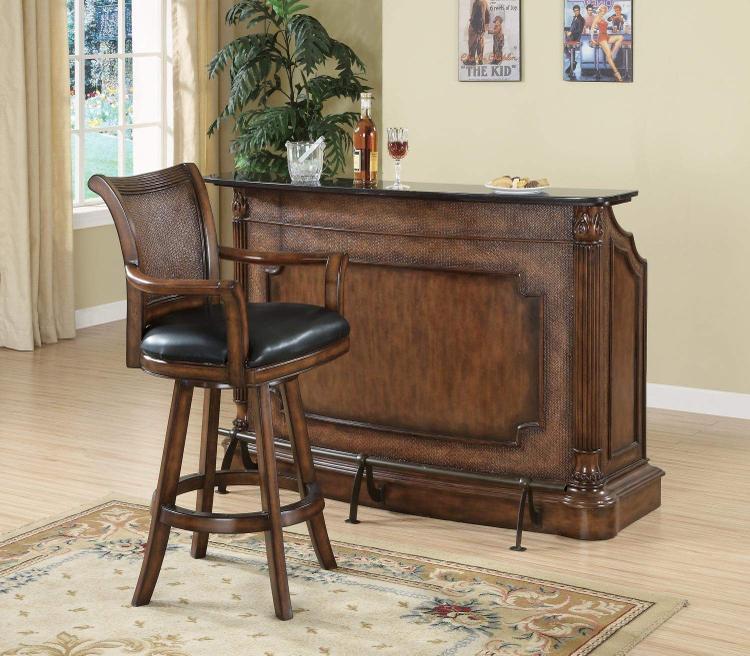Coaster Traditional Ornate Brown Bar Stool [Item # 100174]