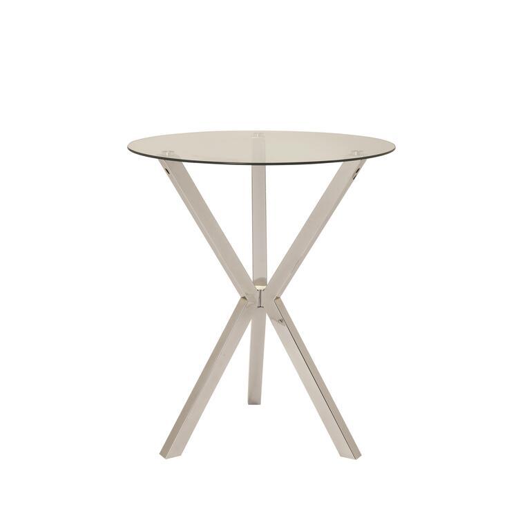 Coaster Contemporary Chrome bar-height Table