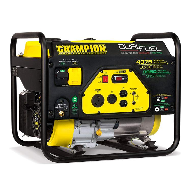 Champion 3500/4750W Dual Fuel Generator, Manual Start