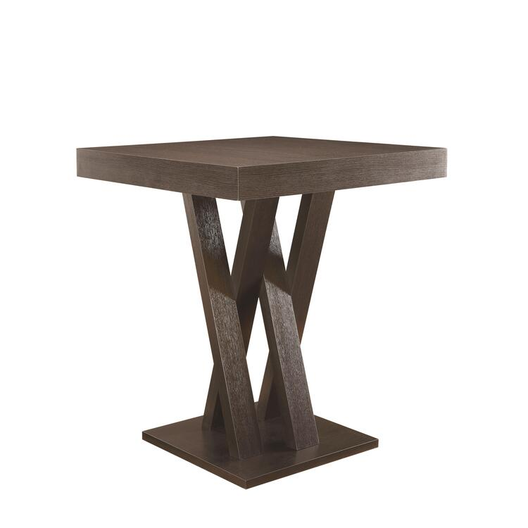 Coaster Mannes Contemporary Cappuccino counter-height Table [Item # 100523]