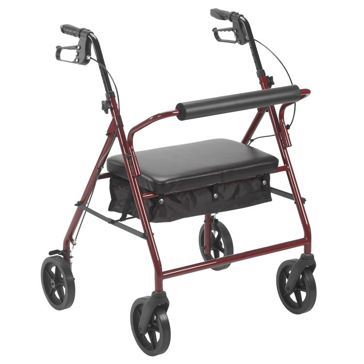 Drive Medical Bariatric Rollator Rolling Walker with 8