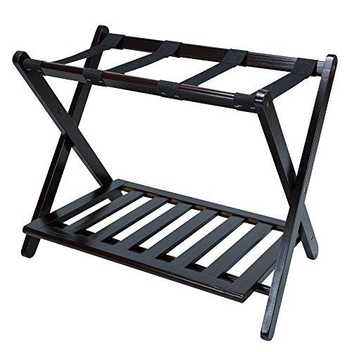 Luggage Rack with Shelf-Espresso