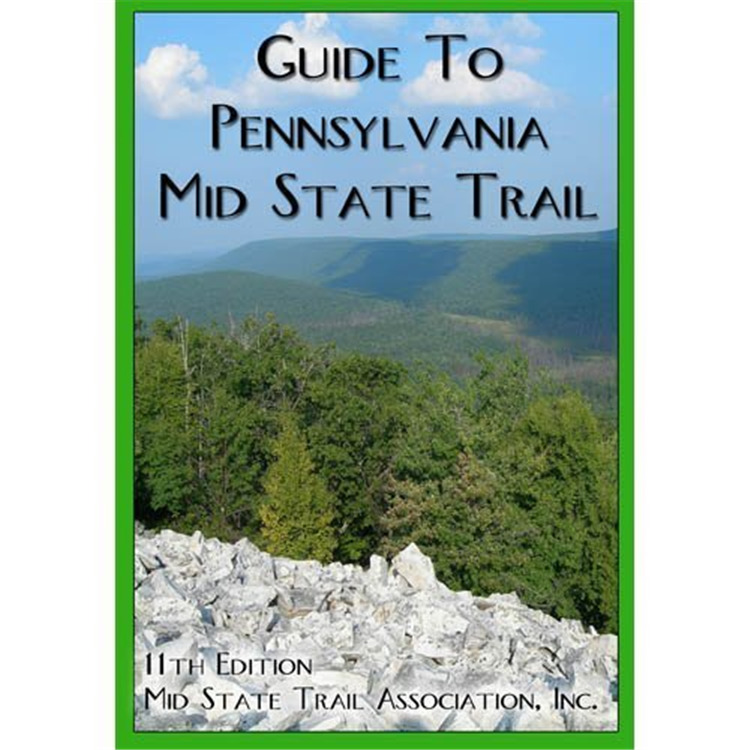 Map & Guide: Mid State Trail 7 Mountains PA