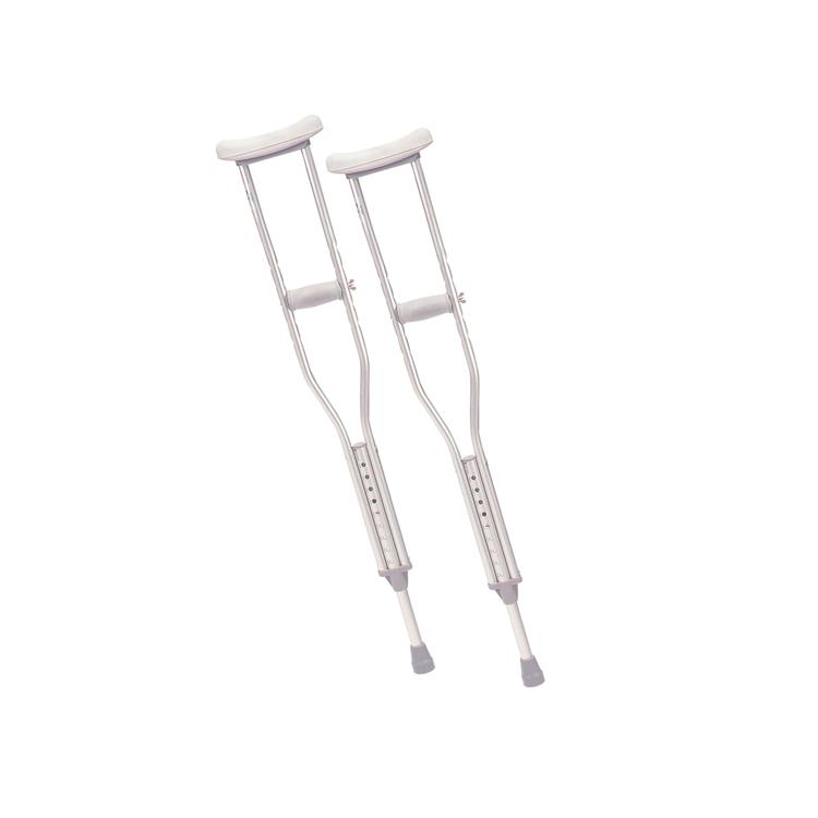 Walking Crutches with Underarm Pad and Handgrip, Pediatric, 1 Pair