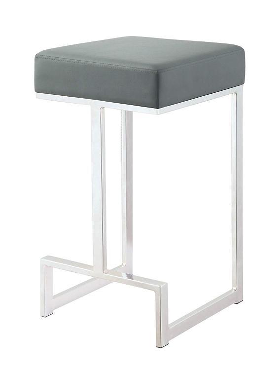 Coaster Contemporary Chrome and Grey Counter-Height Stool [Item # 105252]