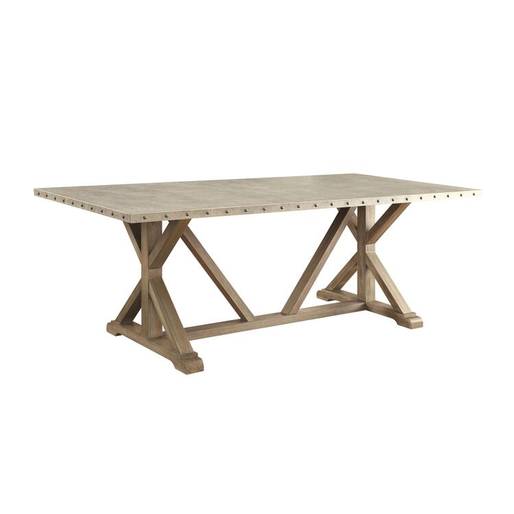 Coaster Webber Rustic Driftwood Dining Table