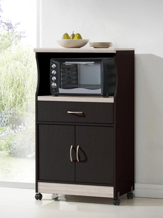 Microwave Cart - Chocolate-Grey