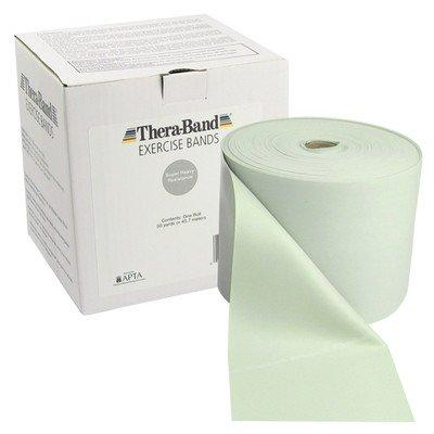 TheraBand exercise band - Twin-Pak 100 yard roll - Silver - super heavy (2, 50-yd boxes)