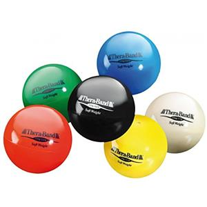 TheraBand® Soft Weights? ball - 6-piece set (1 each: tan, yellow, red, green, blue, black)