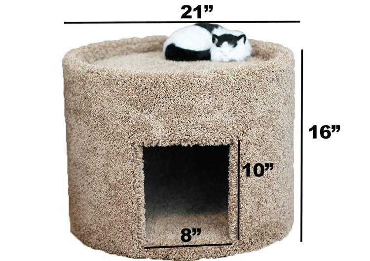 New Cat Condos Extra Large Carpeted Cat Bed and House