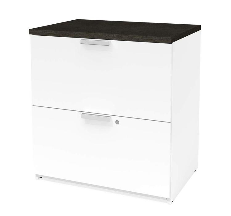 Bestar Pro-Concept Plus Lateral File in White & Deep Grey