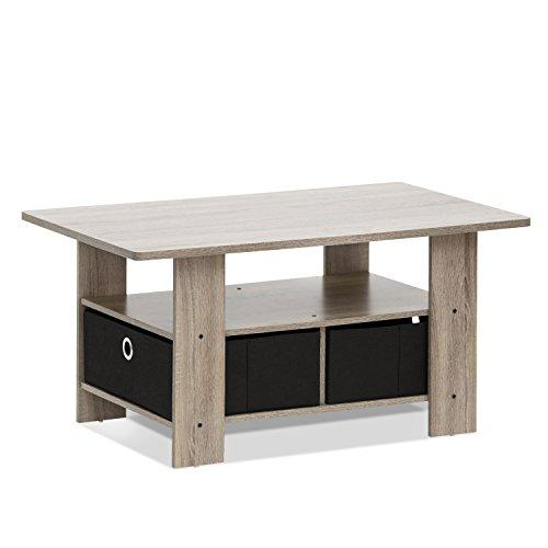 Furinno Coffee Table With Bin Drawer