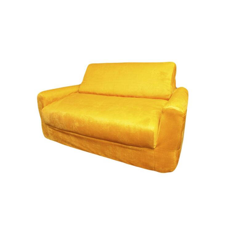 Kid's Micro Suede Sofa Sleeper with Pillows
