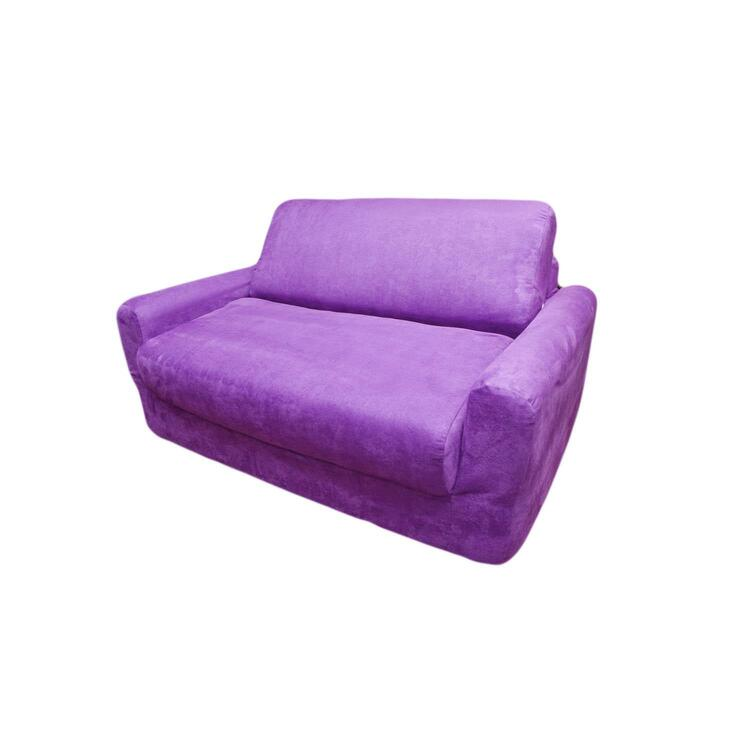 Fun Furnishings Kid's Micro Suede Sofa Sleeper with Pillows