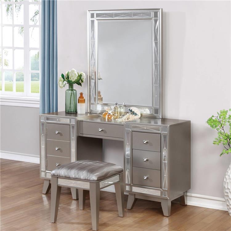 Coaster Leighton Vanity Mirror Metallic Mercury