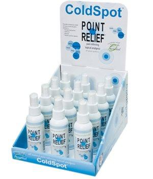 FEI FEI Point Relief ColdSpot Lotion - Retail Display with 12 x 3 oz Spray Bottle